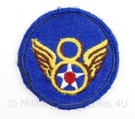 USAF US 8th Air Force embleem - met klittenband - diameter 7 cm - origineel