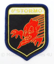 Italiaanse Luchtmacht embleem 6 STORMO - afmeting 7 x 10 cm - origineel