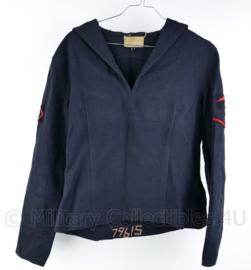 Koninklijke Marine jaren 50 en 60 matrozen shirt met insignes - marinier der 2e klasse -  maat Small -  origineel