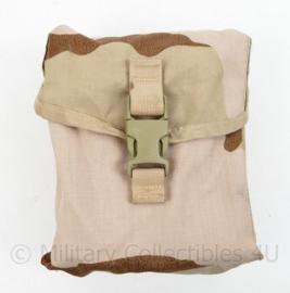 US Army Desert MOLLE pouch II 200 round saw gunner pouch - magazijntas voor 200 patronen magazijn - 20 x 18 x 9 cm - origineel