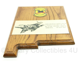 US Air Force USAF en KLU Luchtmacht wandbord F16 straaljager - Operatie The Coronet scout 87 - afmeting 31 x 25,5 x 2 cm - origineel