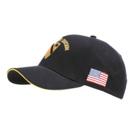 Baseball cap WWII  US Cavalry - ZWART
