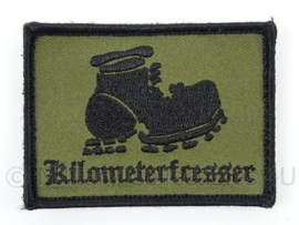 Korps Mariniers embleem Kilometerfresser - prive gekocht - met klittenband - afmeting 7,5 x 6 cm - origineel