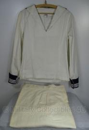 Koninklijke Marine Matrozen hemd Baaienhemd WIT MET broek 50'er jaren -maat 46 -  origineel