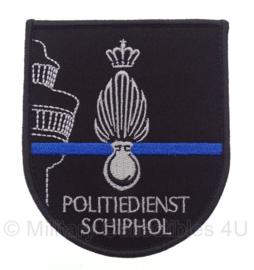 Kmar Koninklijke Marechaussee politiedienst Schiphol embleem - met klittenband - 10,5 x 9 cm