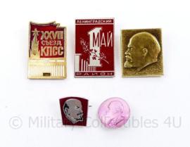 Russische USSR spelden set  - set van 5 stuks - origineel