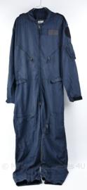 Klu luchtmacht donkerblauw piloten overall - maat 54 -188 cm - gedragen - origineel