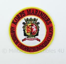 Korps Mariniers Amfibisch Ondersteuningsbataljon embleem - met klittenband - diameter 9 cm