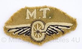 Brits M.T. Motor Transport embleem - origineel WO2