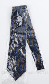 Politie Kennemerland stropdas - donkerblauw met print - nieuw in verpakking - origineel