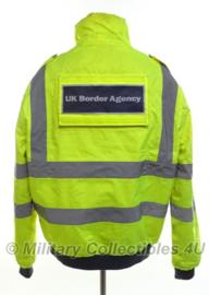 Britse politie parka UK Border Agency - geel reflecterend - maat Small - origineel