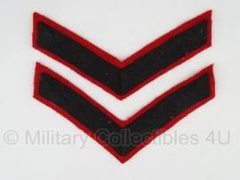 Britse Guards Lance Corporal strepen ( breed model) - zeer zeldzaam - origineel