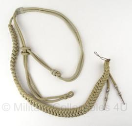 KL antiek leger paradekoord - zilver - origineel