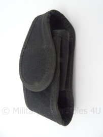 Zwarte Politie kopppeltas handboeien tas - 14 x 6 x 4 cm - origineel