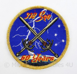 Klu Luchtmacht embleem  312 Squadron 60 years - met klittenband -  diameter 10,5 cm - origineel
