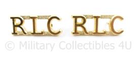 Britse RLC Royal Logistics Corps insigne PAAR - 3 x 1,5 cm - origineel