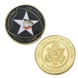 Coin 2nd Infantry Division Indianhead Second to None