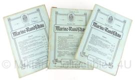 Marine Rundschau boekenset 1910 - set van 3 - origineel