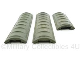 US Army en Nederlands leger AR15 M4 rubber handguard cover set Silver Shadow N.N.L I2000 LTD - origineel