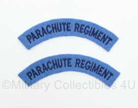 WO2 Britse leger Parachute Regiment shoulder title set - 12 cm breed