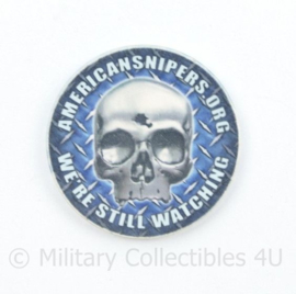 Zeldzame coin American Sniper We're still watching   - diameter 4,5 cm - origineel