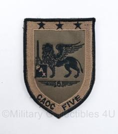 Klu Luchtmacht embleem Nato Air Command Deployable Air Commando  CAOC Five -  met klittenband - 10 x 7 cm - origineel