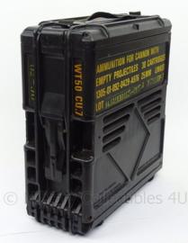 US Army kunststof Munitiekist - ammunition for cannon 30 cartridges - topkwaliteit - afmeting 35 x 14 x 37 cm - origineel
