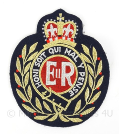 Groot Brits embleem Wapen Honi Soit Qui Mal Y Pense - 18 x 21 cm - nieuw gemaakt