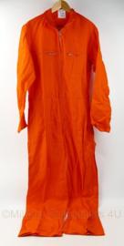 Nederlandse Defensie oranje overall - maat 52 - nieuw - origineel