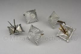 Schouderstukken sterren - zilver - extra groot 15x15 mm voor officieren etc.