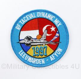 KLU Luchtmacht embleem met klittenband - Leeuwarden Afyon 1997 RF Taceval Dynamic Mix - diameter 10 cm - origineel