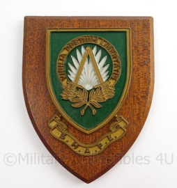 KL Landmacht wandbord SHAPE Supreme Headquarters Allied Powers Europe - afmeting 14 x 18 x 1,5 cm - origineel