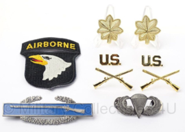 US officer insigne set Major 101st Airborne Division