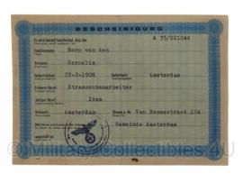 Stalag tewerkstelling - Nederlandse krijgsgevangene - Cornelis van den Horn Amsterdam