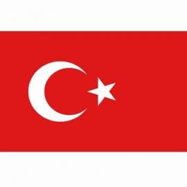 Vlag Turkije - Polyester -  1 x 1,5 meter