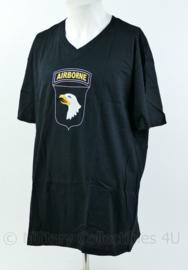 T shirt zwart - met opdruk US 101st Airborne Division - maat XXL