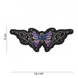 Embleem Butterfly - 15,1 x 6 cm. - Paars