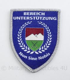 Bereich Unterstutzung Non Sine Nobis embleem - met klittenband - 9 x 7 cm - origineel