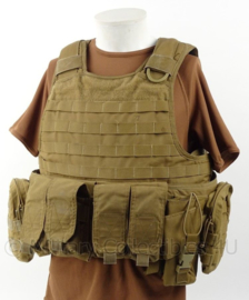 Nederlandse leger en Korps Mariniers  warrior assault systems plate carrier met tassen - Coyote - origineel
