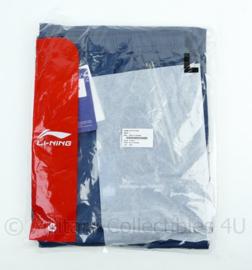 Nederlandse leger Track Pants men donkerblauw merk Li-Ning - NIEUW in verpakking - maat Large - origineel
