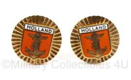 Defensie Holland Manchet knopen jaren 50 a 60 - 2 x 2 cm -  origineel