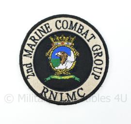 RNLMC Royal Netherlands Marine Corps 2nd Marine Combat Group embleem - met klittenband - diameter 9 cm