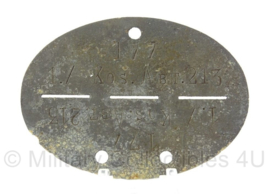 WO2 Duitse erkennungsmarke - 1e Kompanie Kozakken , abteilung 213 - persoonsnummer 177 - origineel