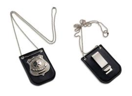 Special Police ID badge houder met nekketting en clip - SMALL 7 x 5 cm - nieuw gemaakt