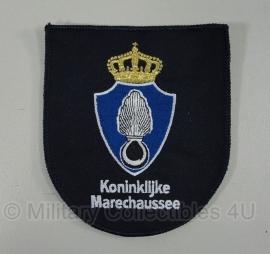 KMAR Marechaussee borst embleem stof - blauw - 12 x 10 cm - origineel