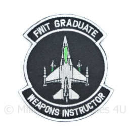 FWIT Graduate Weapons Instructor embleem - met klittenband - 10 x 9 cm
