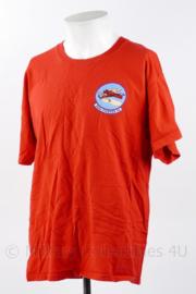 USAF US Air Force 302 D Fighter Squadron Hellions shirt rood - maat L - Licht gedragen - origineel