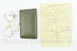 Defensie gevechtsbril set 1976 - bril op sterkte - 14,5 x 9 cm - origineel