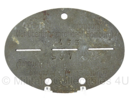 WO2 Duitse erkennungsmarke - Zollgrenzschutz Hamburg - persoonsnummer 465 - origineel