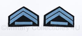 Klu Luchtmacht jaren 70 rangen voor op de mouwen -  Korporaal der 1ste klasse - 9 x 6 cm - origineel